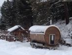 Кедровая Бочка - САУНА зимой!