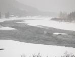 Река Кизир зимой