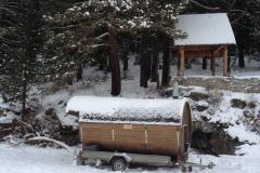 Кедровая Бочка - САУНА зимой!!!